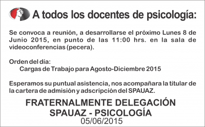 Reunion Sindical Psicologia